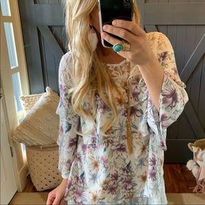 Floral Lace Boho blouse